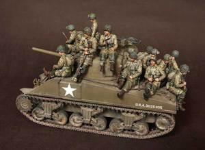 Image 1 - [Tusk 모델] 1/35 스케일 미공개 수지 피규어 수지 모델 키트 us soldier big set (14 피규어)