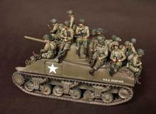 [Tusk model] 1/35 Schaal Ongemonteerd Hars cijfers resin model Kits US soldier GROTE set (14 cijfers)