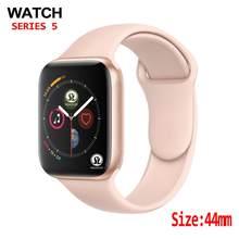 44mm Handgelenk Smart Uhr 1:1 Aktualisiert Drahtlose Lade Smartwatch 44MM Serie 4 Aktualisiert für Apple Uhr IOS Iphone android telefon