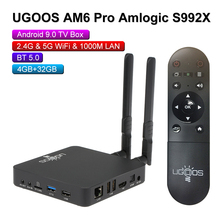 UGOOS AM6 AM3 inteligentny Android 9.0 TV, pudełko Amlogic S922X 2GB LPDDR4 / 16GB 2.4G i 5G WiFi 1000M LAN DLNA BT 5.0 4K HD odtwarzacz multimedialny
