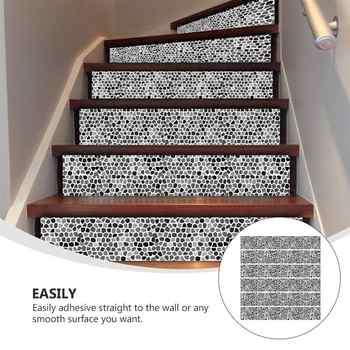 6Pcs 100x18cm Waterproof Stickers Stylish Stair Decals For Step Floor Home Stylish Stairs Stickers Creative Hallway Stickers - DISCOUNT ITEM  35 OFF Home & Garden