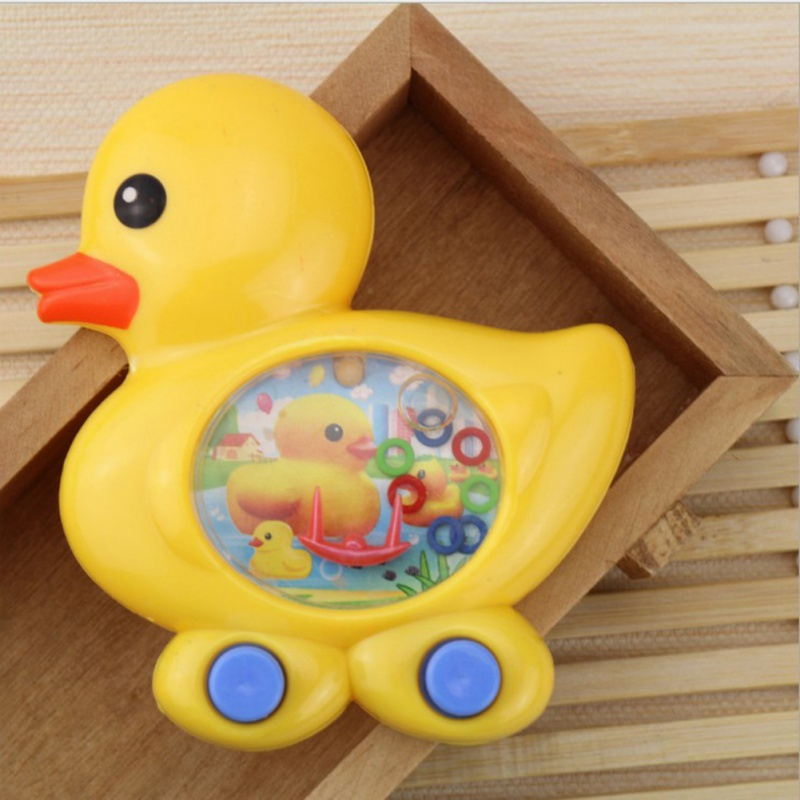 Cartoon Ducks Ring Water Game Water Ring Toss Funny Toy Consoles Children Classic Intellectual Toys Random Color