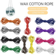 best selling 2020 products Waxed Cotton Cord 5m Jewellery Craft Making Bracelet Necklace String 2mm Width support dropshipping(China)