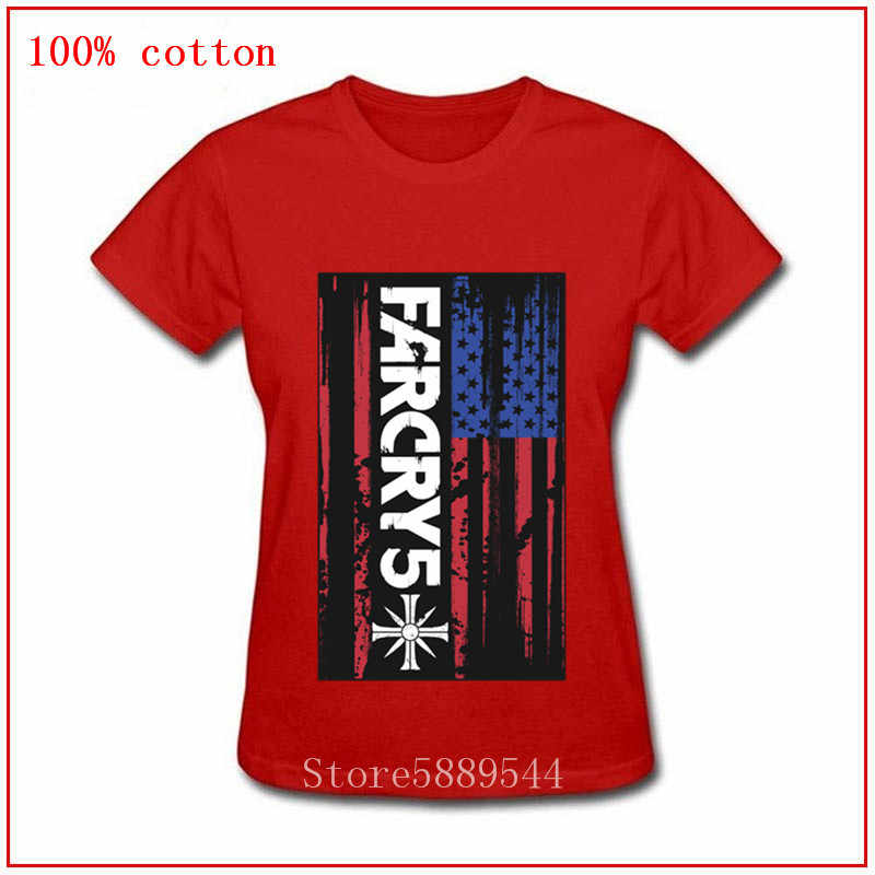 90s Graphic American Farcry Flag Far Cry 5 Fashion T Shirt Hell Girl Streetwear Top Tees Femalet Shirt Aliexpress