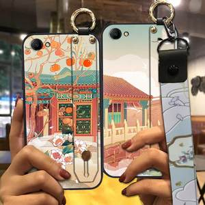 Chinese Style Phone Case For Oppo A3 6.2-inch Dirt-resistant Anti-knock Shockproof Silicone Waterproof Lanyard Fashion Design