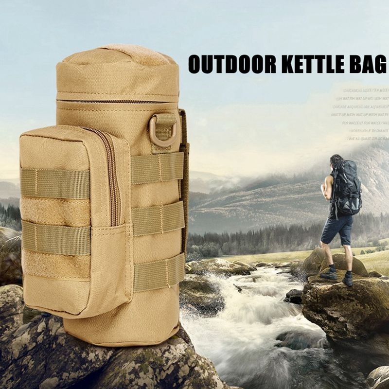 MOLLE Backpack Military Tactics Kettle Bag Portable Outdoor Sport Camping Climbing Hiking Hunting Fishing Accessory Bag