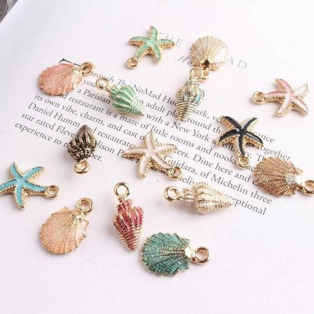 Θαλασσινά Μενταγιόν ocean style Κοσμήματα diy