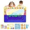 Детский волшебный коврик для рисования в воде и Флуоресцентные Ручки для рисования, роликовые штампы, многоразовые наборы для рисования, ра...