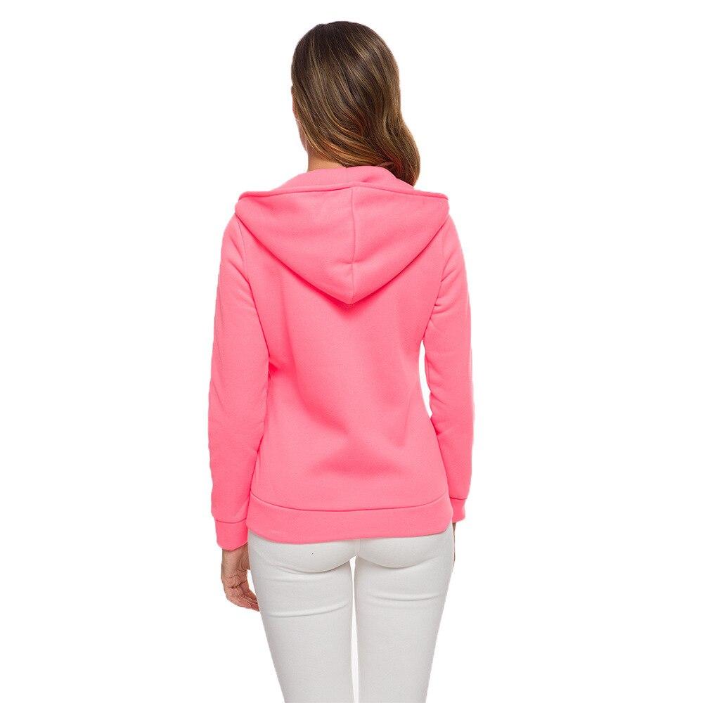 oversize 2020 Zipper Hoodies Women Jackets Hoody Jumper Overcoat Outwear Female Sweatshirts Warm Fashion Long Sleeve Hoodies 5