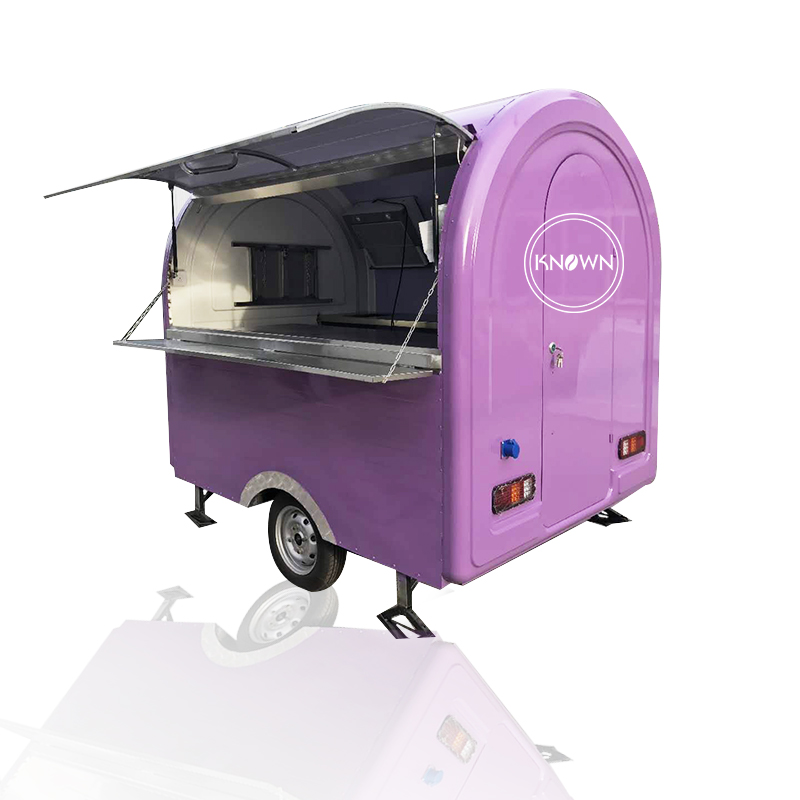 2020 Hot Sale Mobile Food Carts/trailer/ Ice Cream Truck/snack Food Carts For Purple Color With Free Shipping By Sea