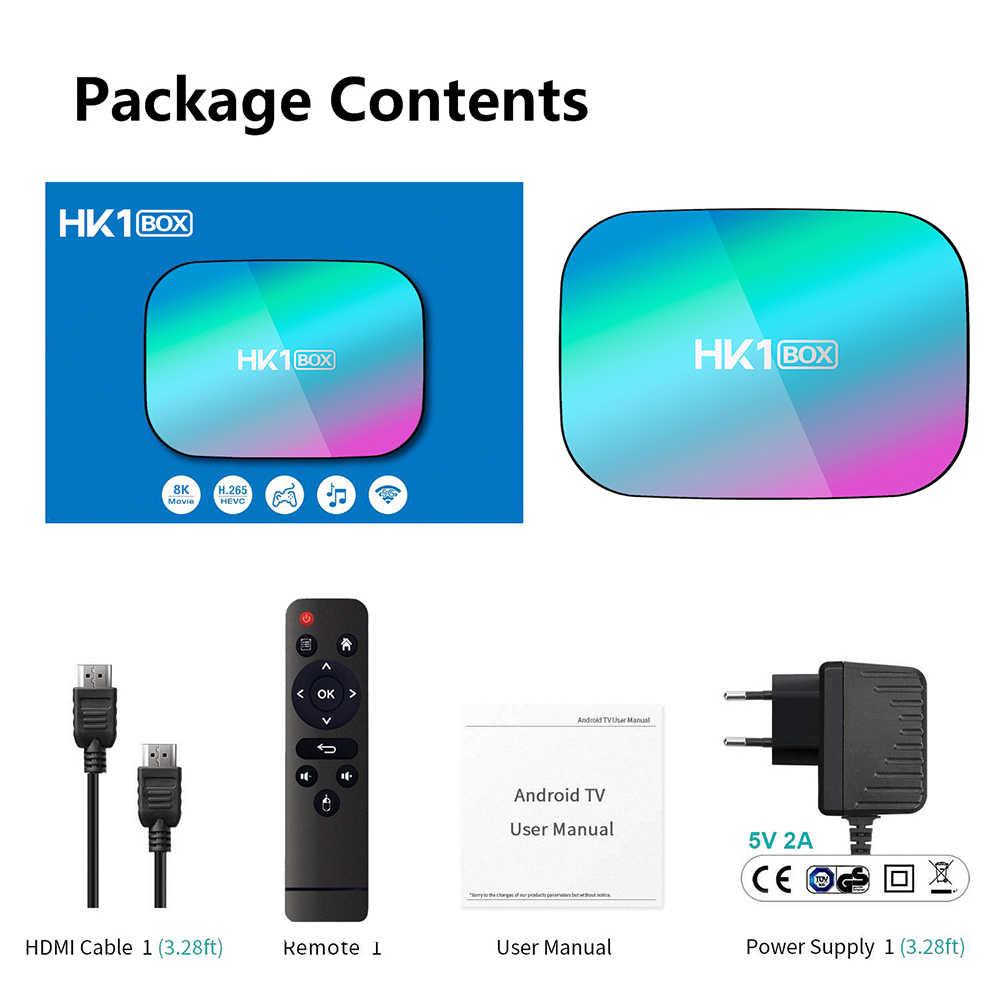 HK1 BOX 8K Amlogic S905X3 4GB RAM 64GB TV, pudełko Android 9.0 dekoder 1000M podwójny Wifi 4K Youtube Netflix Smart TV Box TV, pudełko 4G 32G