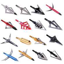 6pcs Arrow Broadheads 100gn-125gn Arrows Tips for Archery Hunting Compound Bow and Crossbows and Recoil Arrow Heads