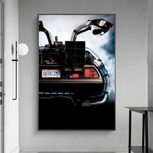 Movies Back To The Future Car Delorean Time Machine Art Canvas Print Painting Living Room Wall Picture Home Decoration Poster
