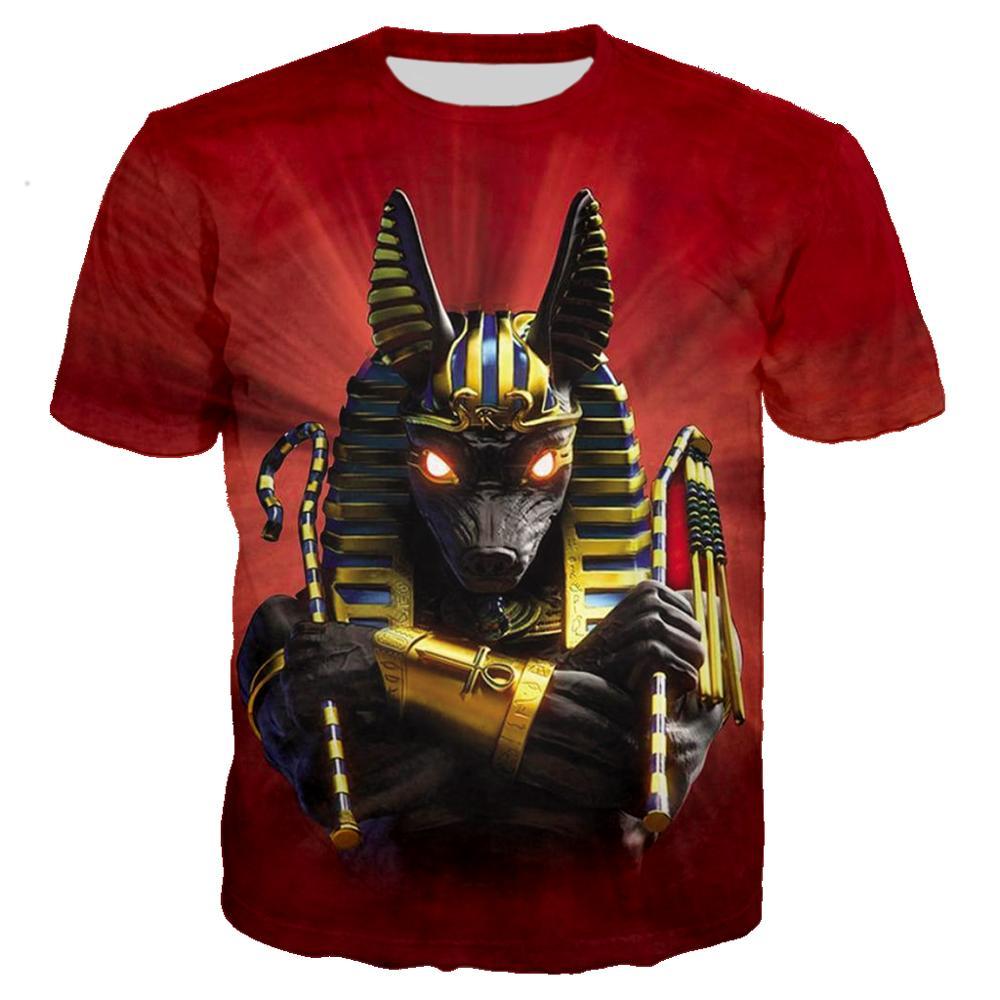 Ancient Egyptian T Shirt 3D Print Men/women Vintage Streetwear T-shirt Youth Retro Egypt Tshirt Tops Clothes Camiseta Hombre 5XL