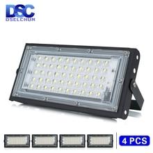 4ชิ้น/ล็อต50WไฟLed AC 220V 230V 240Vกลางแจ้งFloodlight Spotlight IP65กันน้ำLEDโคมไฟถนนโคมไฟภูมิทัศน์