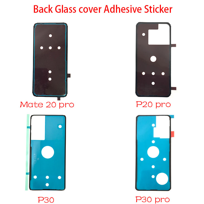 New For <font><b>Huawei</b></font> P20 Mate 20 Pro <font><b>P30</b></font> Pro Back <font><b>Battery</b></font> <font><b>Cover</b></font> Door sticker Adhesive glue tape image