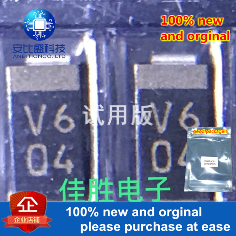 20pcs 100% New And Orginal D1F60 1A600V DO214AC Silk-screen V6  In Stock