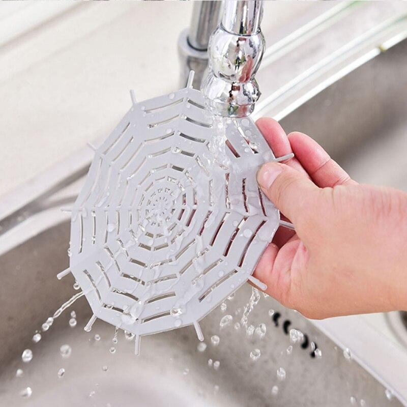Фильтр для раковины, анти-блокирующий слив пола, силиконовая присоска для канализации, фильтр для раковины, для ванной комнаты, кухонные при...