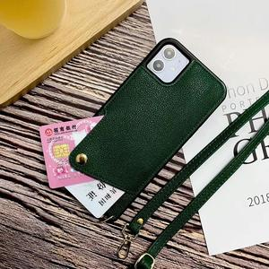 Image 2 - מקרה עבור iPhone 11 פרו XS MAX XR X 6 7 8 בתוספת כיסוי ארנק עם Crossbody שרשרת אשראי כרטיס מחזיק חריץ תיק ארנק מקרה כיסוי