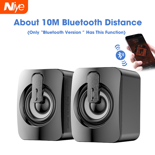 Bluetooth Wired Speakers Computer Speaker Stereo Bass Sound box Subwoofer Music Player for PC Laptop Desktop loudspeakers Column 1