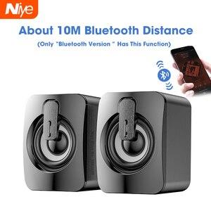 Bluetooth Проводная колонка, компьютерная колонка, стерео бас, звуковая шкатулка, сабвуфер, музыкальный плеер для ПК, ноутбука, настольная колон...