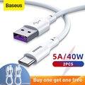 Baseus Schnelle Lade USB Typ C Kabel 5A USB C Kabel Typ C kabel für Huawei Daten Kabel Ladegerät USB kabel C Für Samsung S20 S10