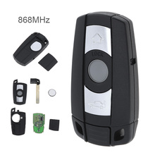 Auto Car Remote Smart Key Remote/Leather Cover Fit for BMW CAS3 System X5 X6 Z4 1/3/5/7 Vehicle 868MHz 3 Buttons