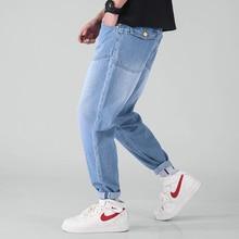 Осенние новые японские корейские тренды мужские большие размеры Harlan Молодежные свободные уличные повседневные джинсовые брюки