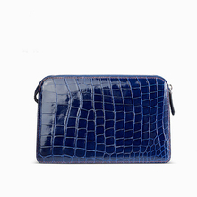 gete Pure manual  Estuarine crocodile  crocodile  handbags  male bag large capacity  business  leisure  Men clutch bag