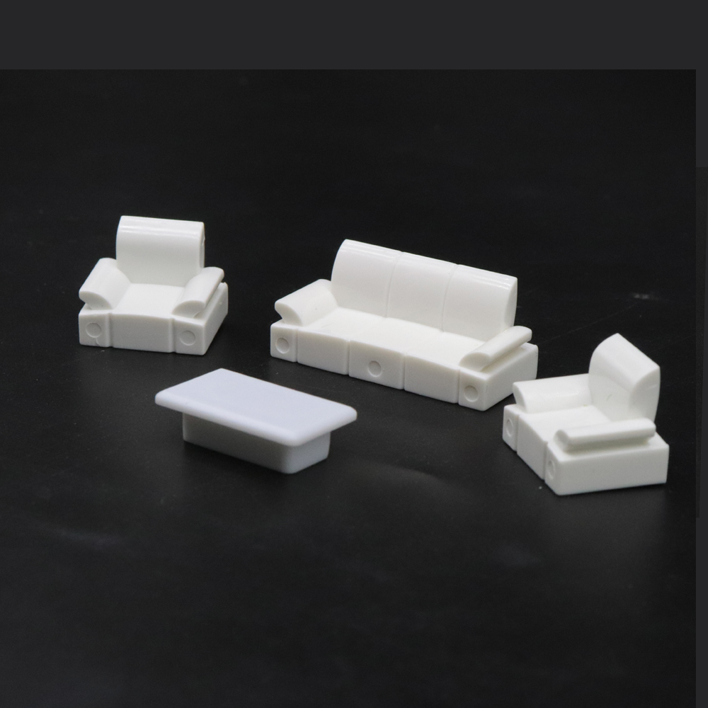 Architectural Layout Design Furniture Model Set Toy Contains (3 Sofas And 1 Table) 1:50 Scale 1 Set For Interior Landscape
