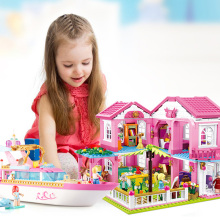 Big Garden Villa City House Building Blocks Sets Yacht Ship Castle Legoingly Friends Bricks Toys Girls Christmas Gifts 34052 house building bricks legocean city streetview villa garden building blocks sets doll model house gifts kids children toys