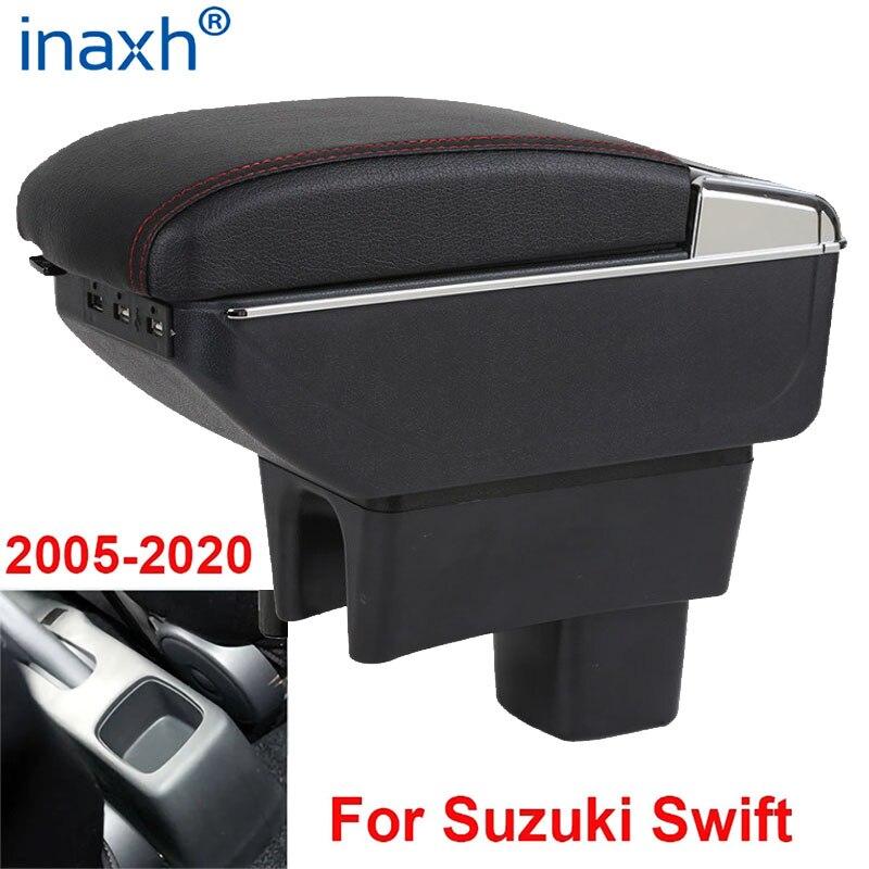 Para Suzuki Swift reposabrazos caja 2005-2019 apoyabrazos accesorios del coche interior de almacenamiento caja de la actualización a 2011, 2013, 2015, 2016