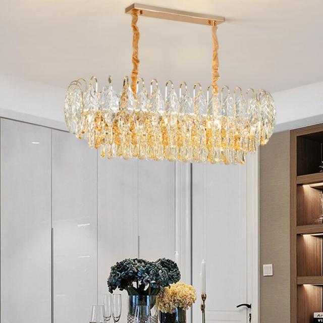 Фото роскошная светодиодная хрустальная люстра для гостиной домашний цена