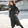 Veste en cuir femmes en peau de mouton en cuir véritable veste pour femmes vêtements mince à capuche canard vers le bas manteau d'hiver femmes AKF 125A YY885