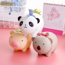 Детская копилка в виде милой панды Копилка коробка игрушки сокровище деньги монета экономия игра деньги стол декор, рождественский подарок