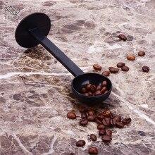 Plastic Coffee&Tea Tools 2 IN 1 10g Measuring Tamping Scoop Coffee Tamper Black Espresso Stand Spoon Kitchen