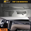 Free shipping car modification accessories 100% carbon fiber car dashboard decoration strip for Tesla model S and model X