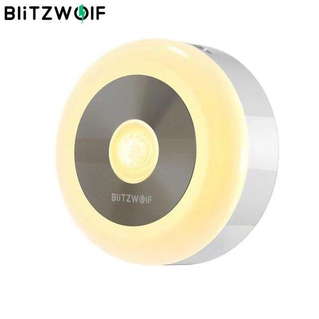 BlitzWolf BW LT15 Night Lights LED Motion PIR Infrared Sensor Night Light 3000K Color Temperature 120 Degree Lighting Angle
