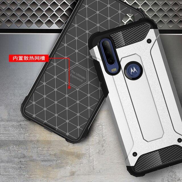 Für Motorola Moto Eine Aktion Vision Zoom Makro G8 G7 Power Z4 Spielen Rand + Plus Silicon Harte PC Schwere duty Rüstung Schutz Abdeckung