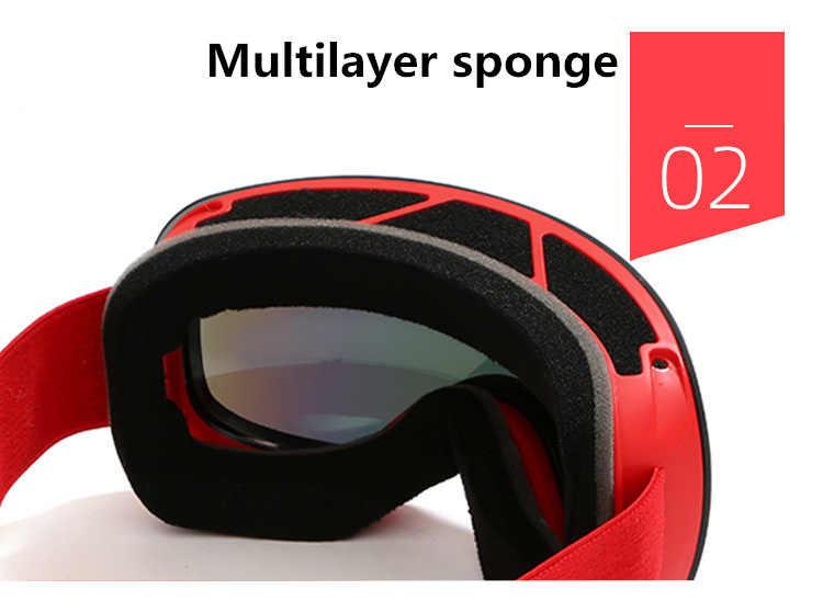Новые лыжные очки для мужчин и женщин, двухслойная противотуманная большая Лыжная маска UV400, защитные очки, лыжные зимние очки для сноуборда