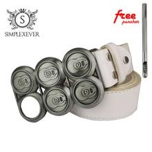 Men's Silver Belt Buckles Head Metal Suitable for 4cm Width Buckle Drop Shipping