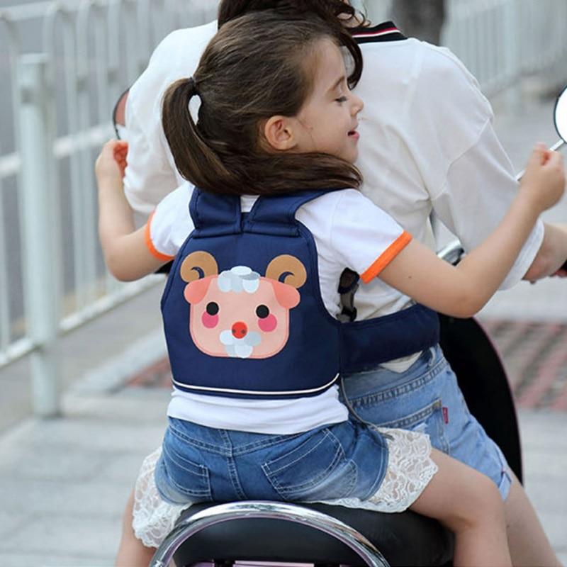 Children Safety Vest Belt Adjustable Baby Harness Assistant Motorcycle Seat Belt Back Hold Protector For Kids Travel Riding