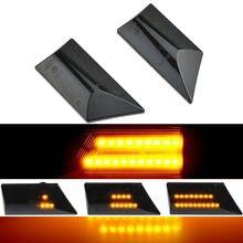 Para opel vectra c 2002-2008 signum led sinais de volta do carro lado marcador luz dinâmica piscando lâmpada blinker lateral acessórios automóvel