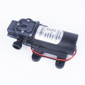 Image 3 - Миниатюрный мембранный насос высокого давления, 12 В, 24 В, 60 Вт, 5 л/мин, с автоматическим переключателем, многофункциональный насос постоянного тока