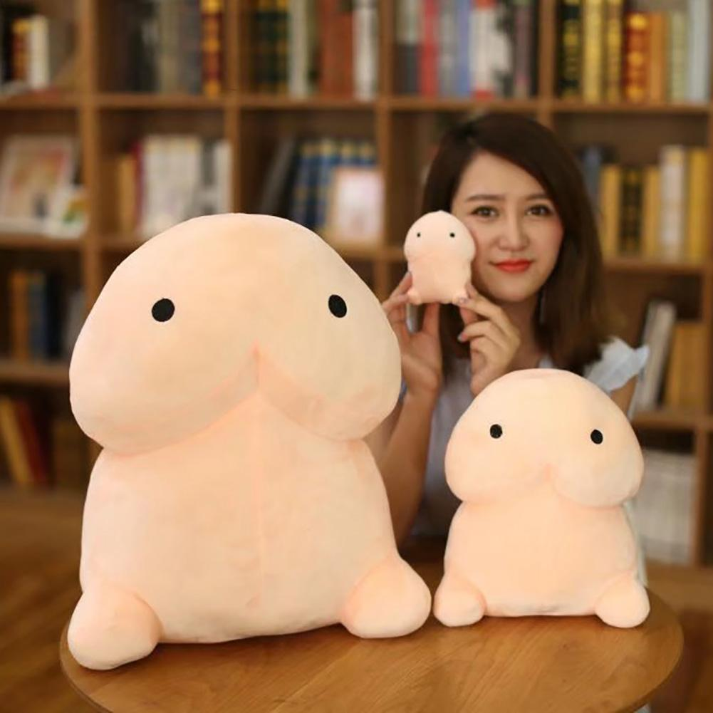 Funny Penis Shape Plush Stuffed Doll Huggable Cushion Throw Pillow Prank Toy New