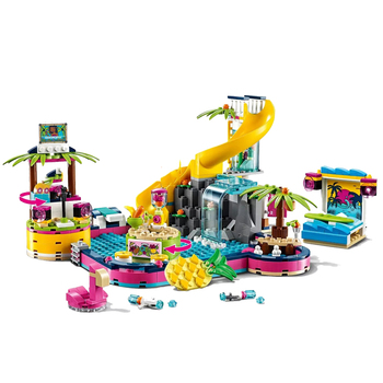 The The Heartlake City Series Karaoke Pool Party Compatible Lepining Friends 41374 Building Blocks Toys for Kids Christmas Gift bela friends series heartlake riding club building blocks classic for girl kids model toys marvel compatible legoe