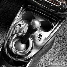 Interior do carro painel de mudança de engrenagem decorativa capa adesivo para smart 453 fortwo forfour modificação estilo do carro acessórios