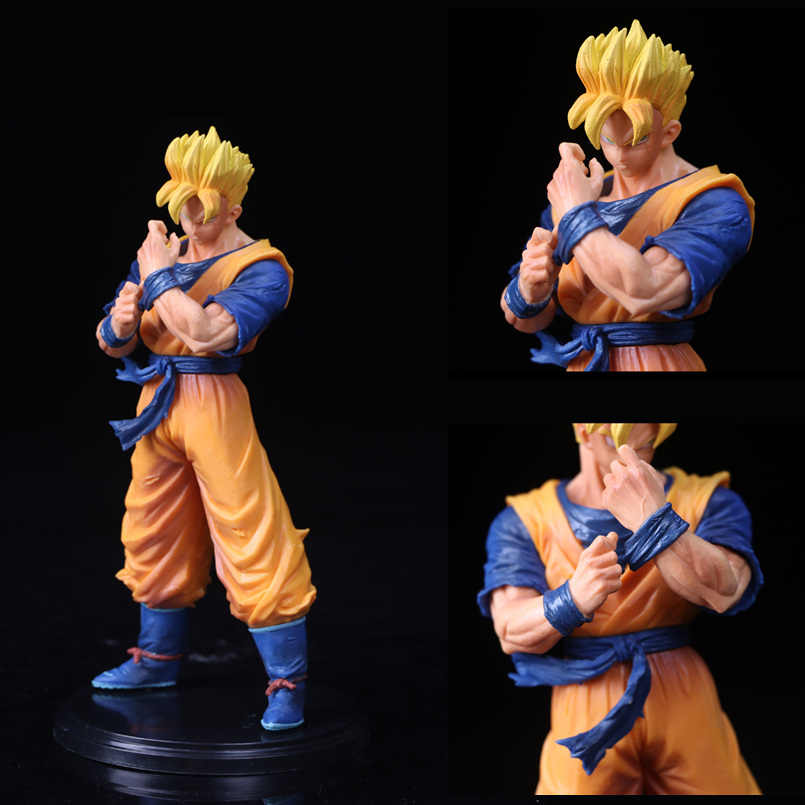 Figura Dragon Ball Z Kakarotto Son Goku Dragon Ball Super Saiyan Figura de Ação Brinquedos PVC Boneca Anime Collectible Modelo de Choque