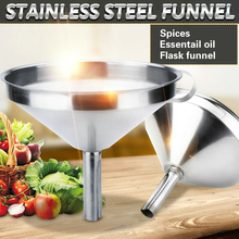 Stainless Steel Funnel Kitchen Oil Liquid Funnel Metal Funnel with Detachable Filter Wide Mouth Funnel for Canning Kitchen Tools