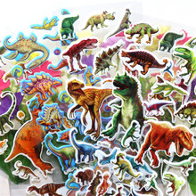 10 sheets stickers kids 3D bubble sticker car dinosaur animal letter sticker scrapbooking girls boy toy notebook label pegatinas(China)